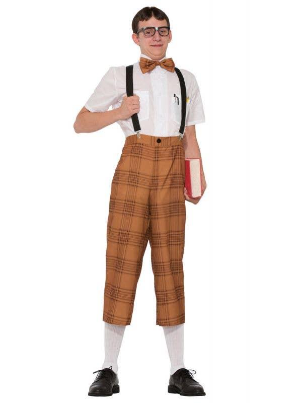 Mens Nerd Fancy Dress 50s Dress Up Costume - Main Image