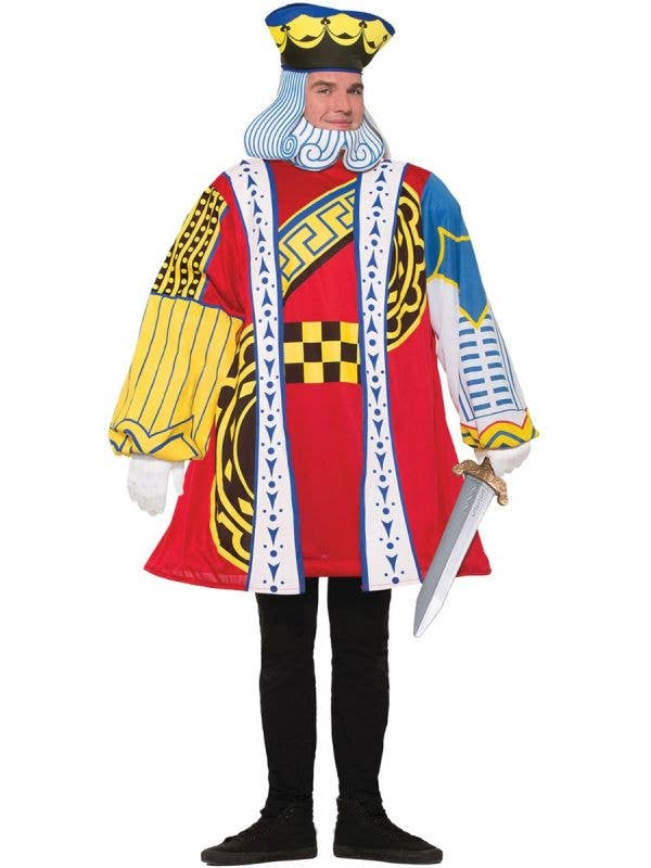 Men's King Of Hearts Playing Card Fancy Dress Costume