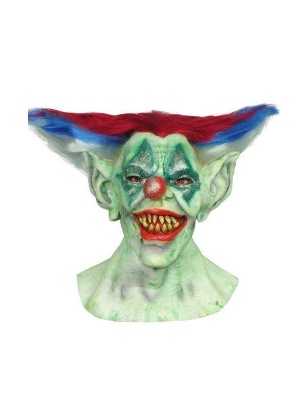 Outta Control Clown Evil Horror Halloween Latex Mask Costume Accessory Main Image