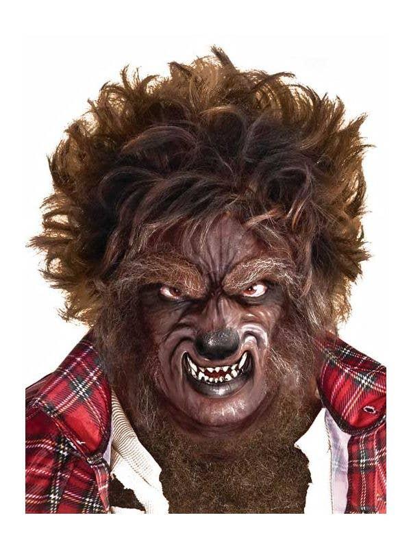 Men's Werewolf Spiked Brown Halloween Costume Wig