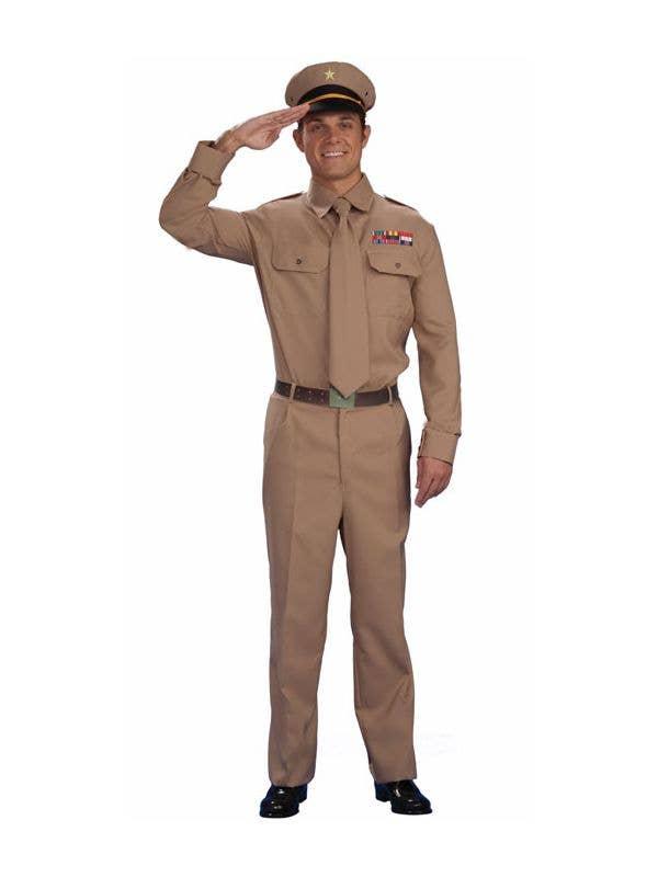 German Soldier Mens Fancy Dress 1940s WW2 Army Military Uniform Adults Costume