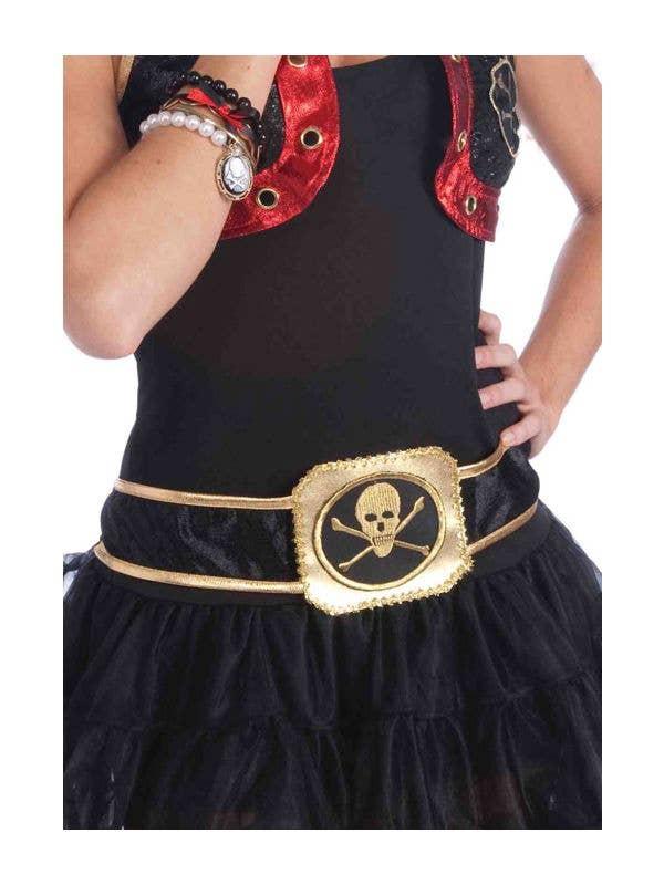 PIRATE SKULL /& CROSSBONES SASH Mens or Womens Fancy Dress Costume Accessory