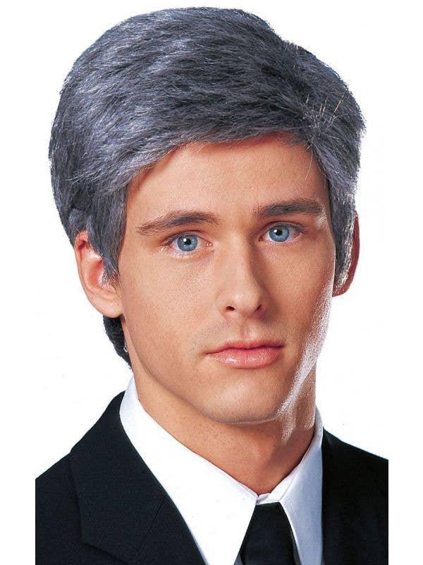 Business Man Dark Grey Men's Costume Wig