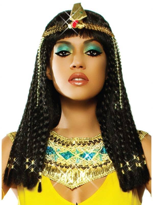 Women's Black Braided Cleopatra Wig