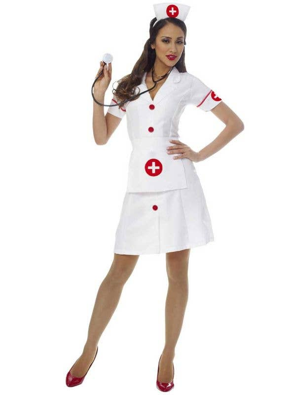 Women's Classic Nurse Fancy Dress Costume Main Image