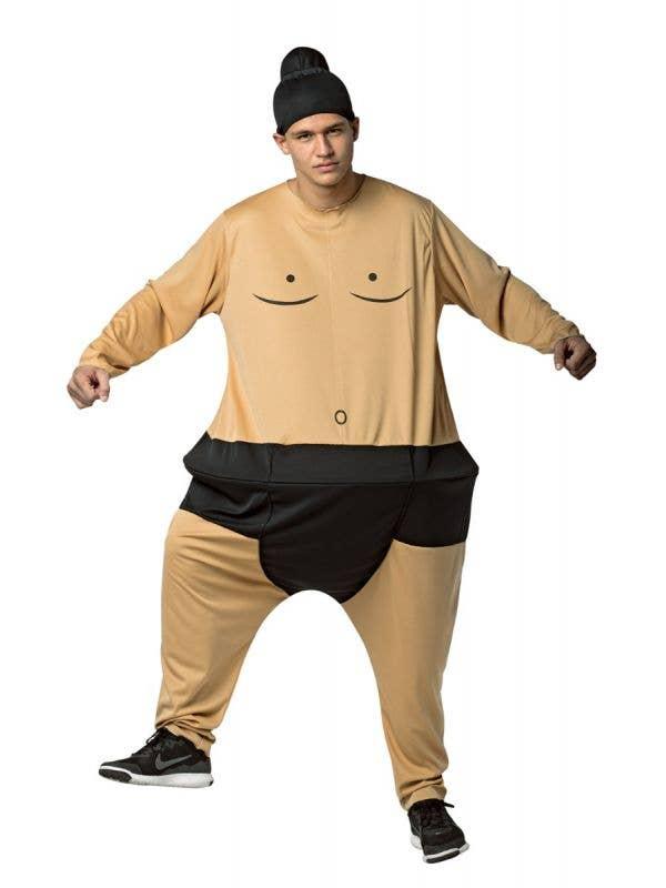 Novelty Men's Sumo Hoopster Hooped Wrestling Novelty Costume Jumpsuit Main Image