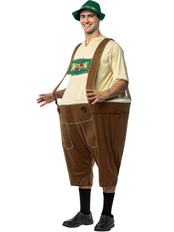German Man Oktoberfest Lederhosen Hoopster Hooped Novelty Fancy Dress Costume Main Image