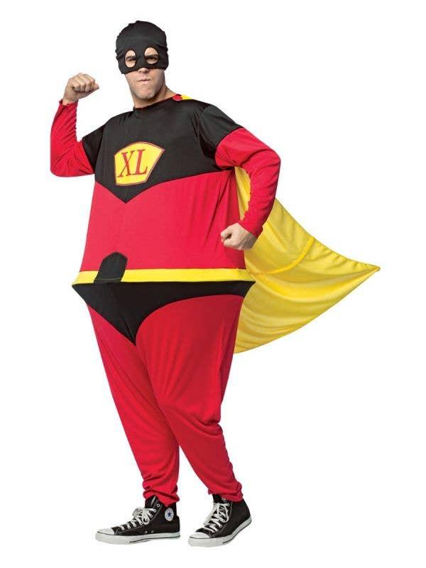Funny Superhero Hoospter Men's Fancy Dress Costume Main Image