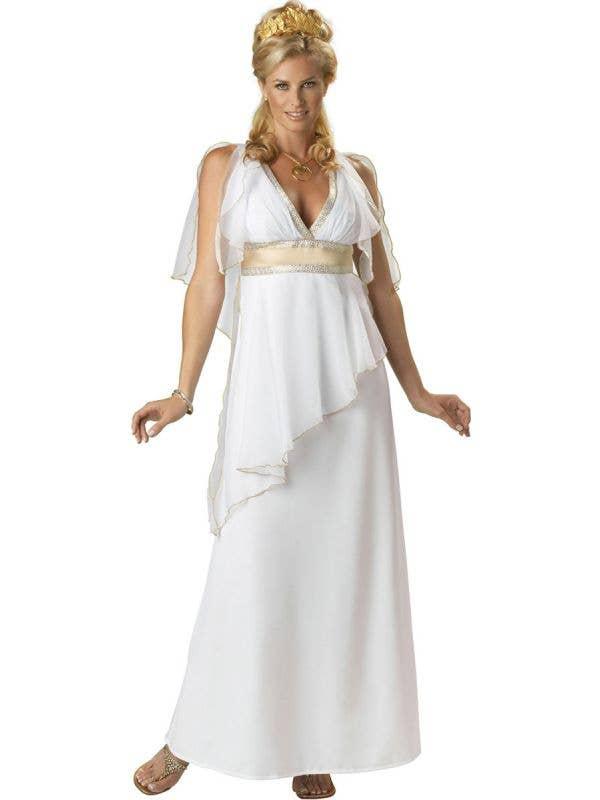 Womens White Sexy Greek Goddess Deluxe Costume - Main Image