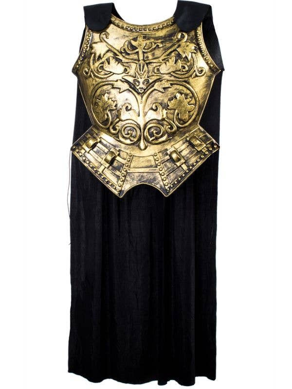 Gold Gladiator Chest Armour with attached Black Cape
