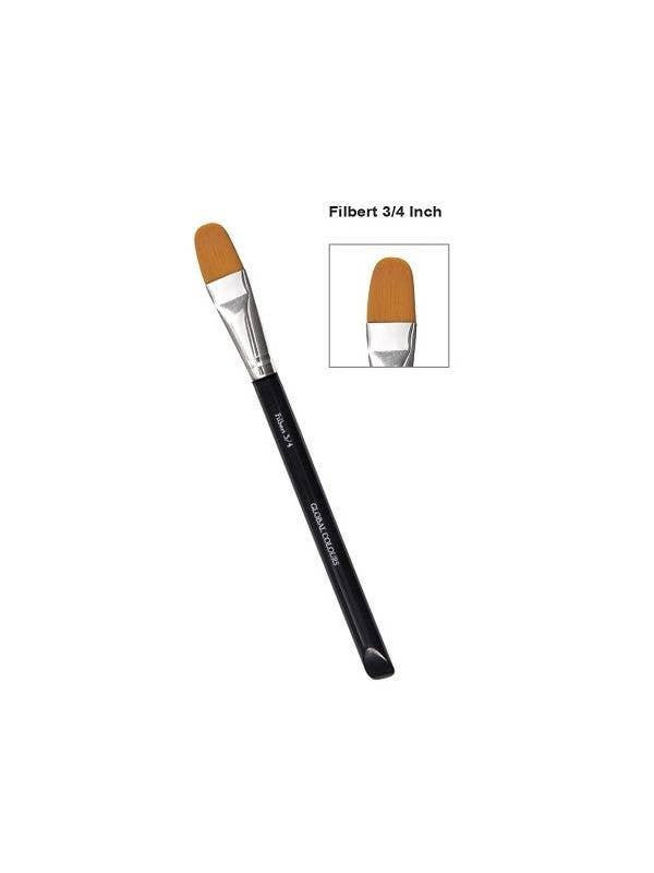Round 3 4 Inch Makeup Brush Filbert Flat Face And Body Art Brush