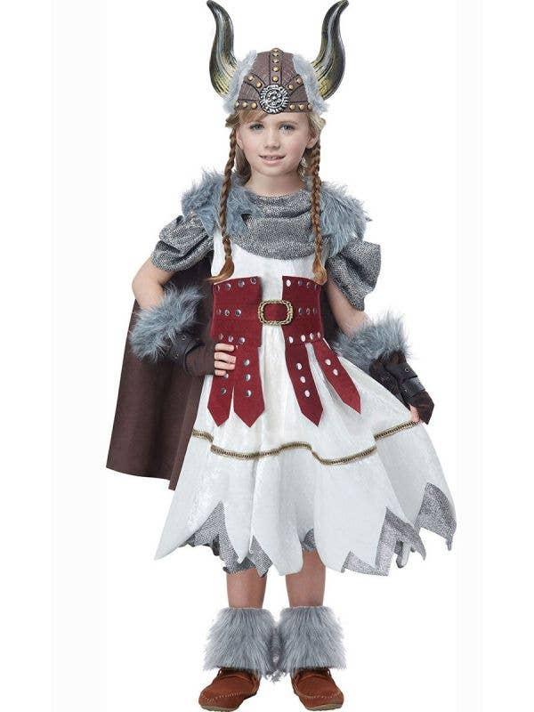 Girls Valorous Viking Fancy Dress Costume