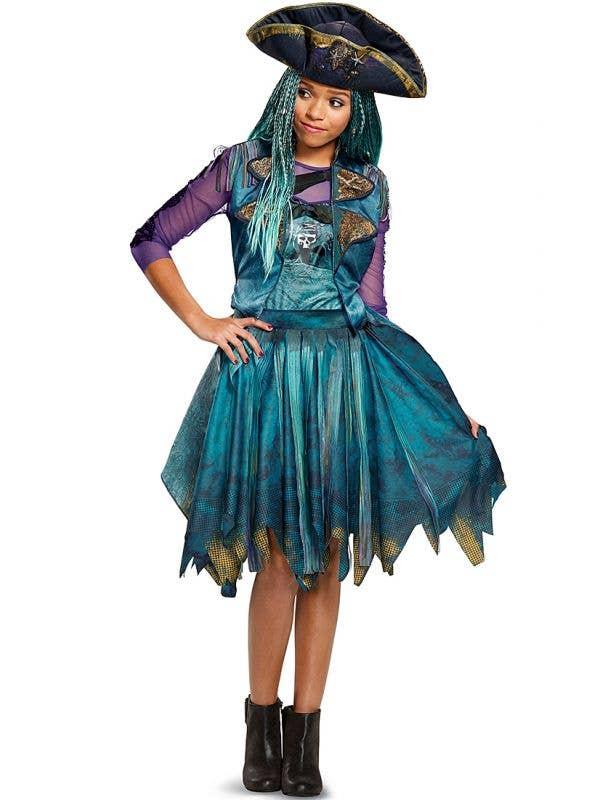 Uma Descendants 2 Disney Classic Isle Look Girl's Fancy Dress Pirate Costume Main Image