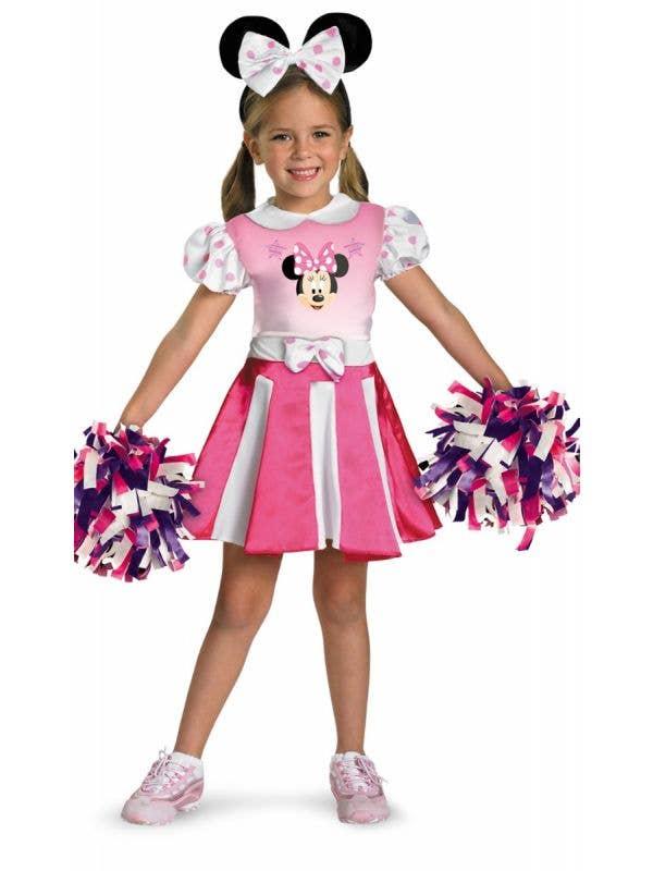 Minnie Mouse Cheerleader Girl's Disney Costume Main Image
