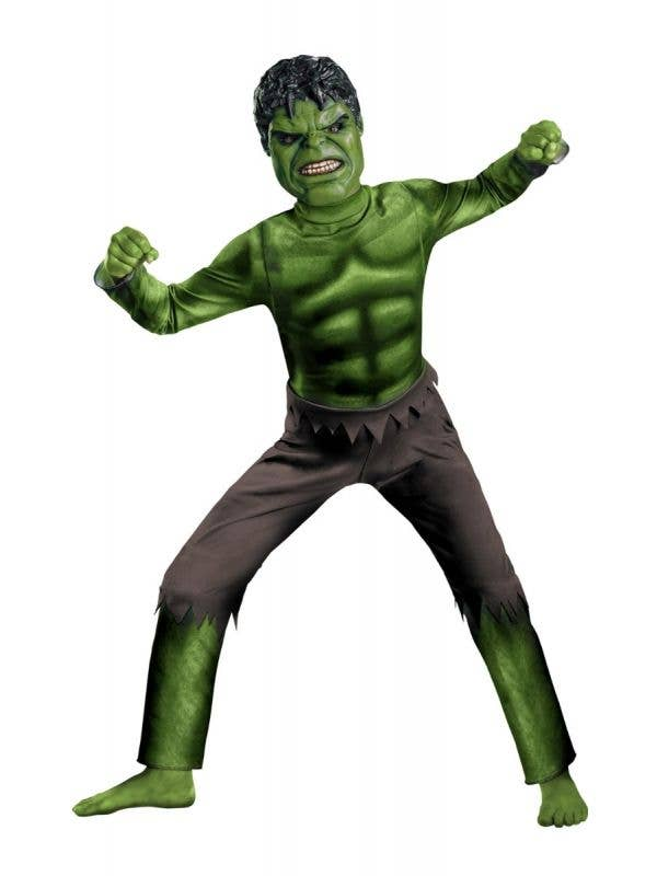 Marvel Avengers Hulk Boy's Superhero Costume Main Image