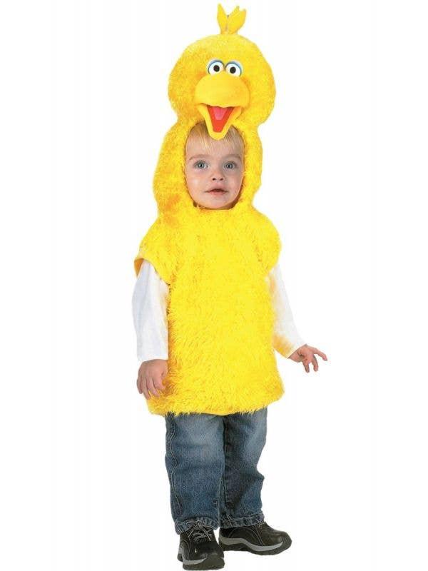Kid's Big Bird Sesame Street Yellow Plush Fluffy Costume Vest Main Image