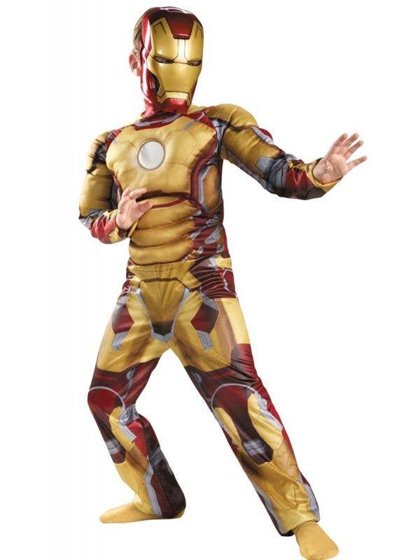 Boys Iron Man Tony Stark Avengers Muscle Chest Superhero Costume Main Image
