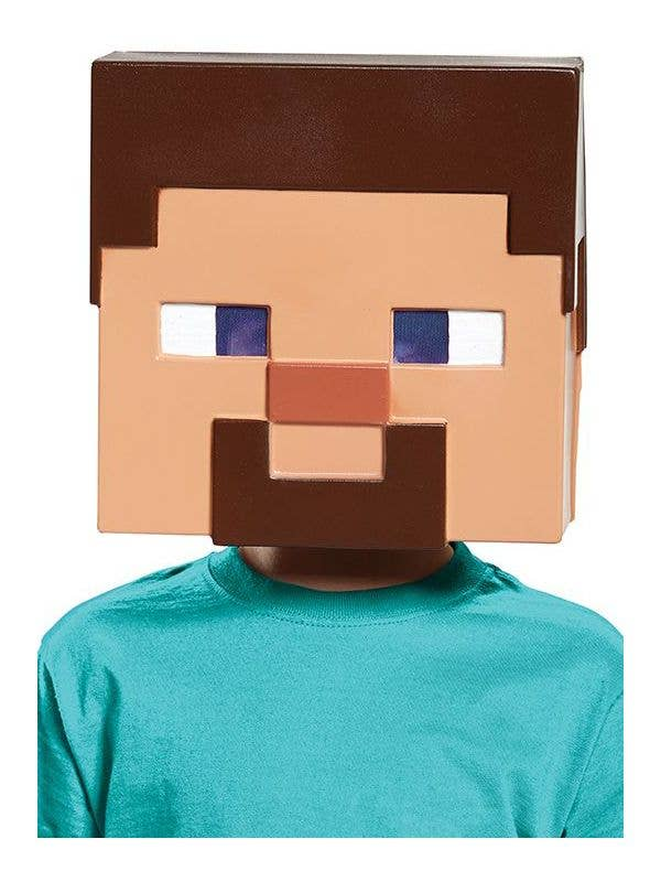 Minecraft Steve Costume Mask Kid S Video Game Character Mask