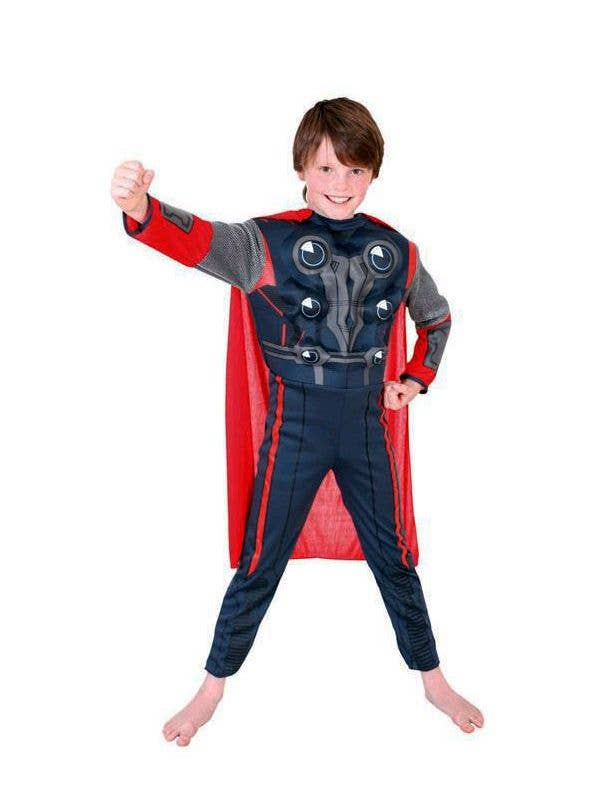 Boy's Thor God Of Thunder Superhero Marvel Avengers Costume Front