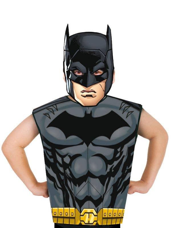 Boys Batman DC Comics Shirt and Mask Costume Set