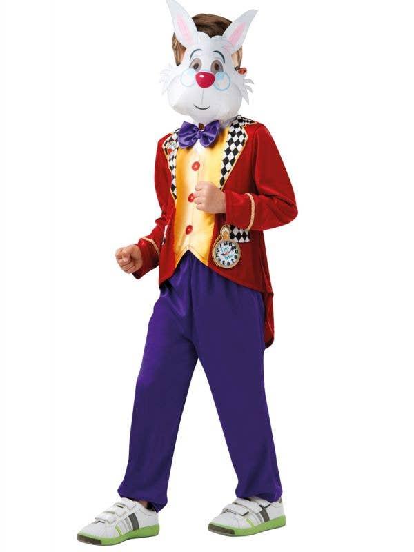 Boy's Officially Licensed White Rabbit Alice in Wonderland Costume