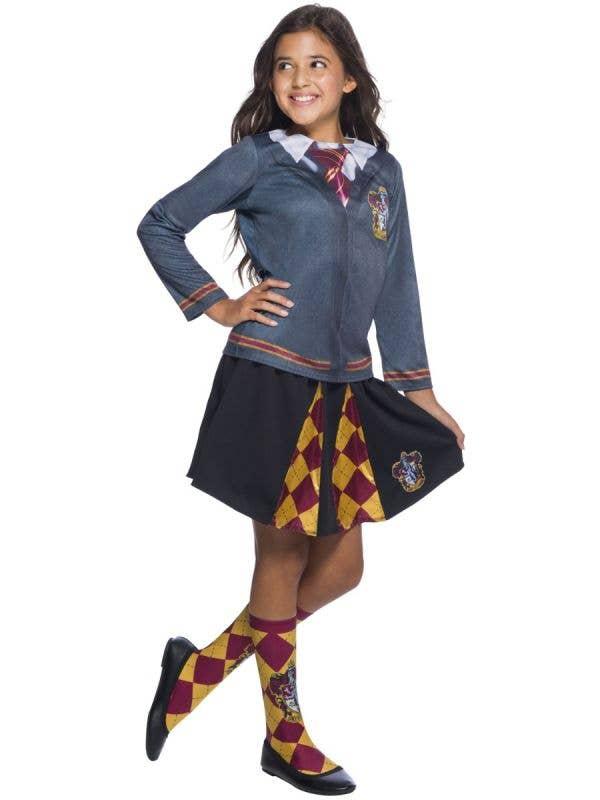 Girl's Harry Potter Gryffindor Kid's School Girl Costume Skirt Main Image