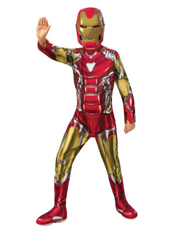 Boys Iron Man Superhero Book Week Fancy Dress Costume Marvel Avengers Outfit