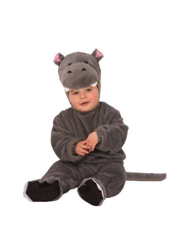 Toddler Baby Hippo Unisex Fancy Dress Animal Costume Onesie Main Image