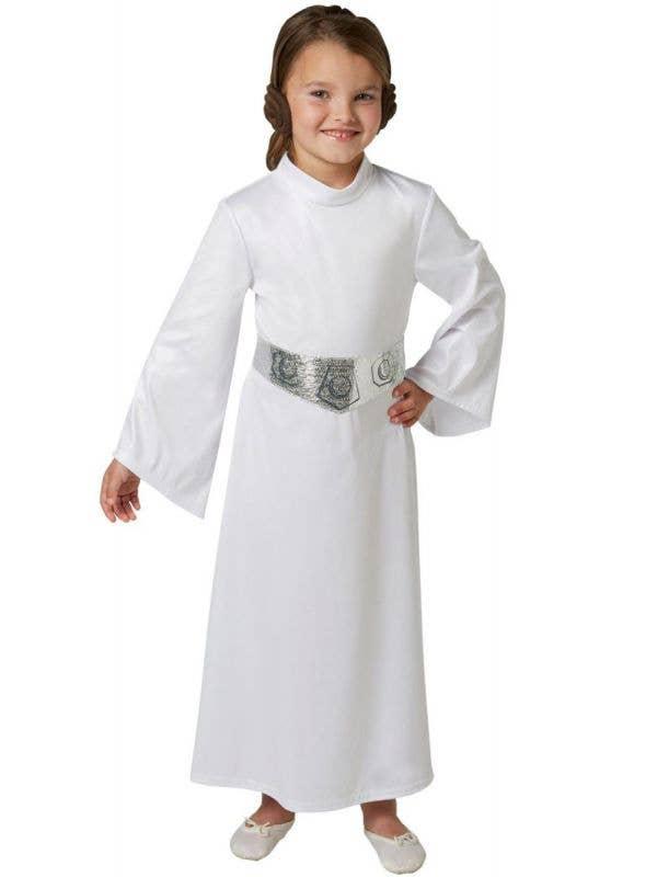 Girls Princess Leia Star Wars Fancy Dress Costume Main Image