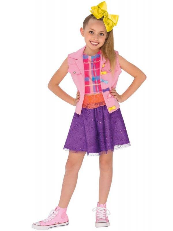 Girl's Jo Jo Siwa Music Video Nickelodeon Kid's Book Week Fancy Dress Costume Made by Rubie's Main Image