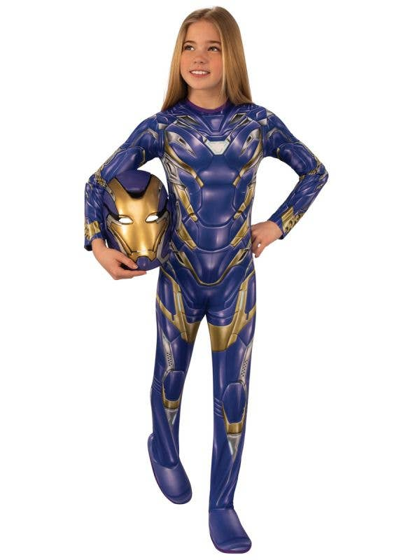 Avengers Infinity War Pepper Potts Blue Rescue Suit Costume for Girls