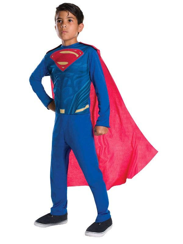 Boys Metallic Superman Book Day Superhero Halloween Fancy Dress Costume Outfit