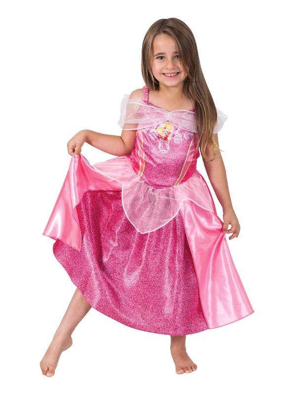 Sleeping Beauty Aurora Womens Costume Disney Licensed Ladies Fancy Dress Outfit