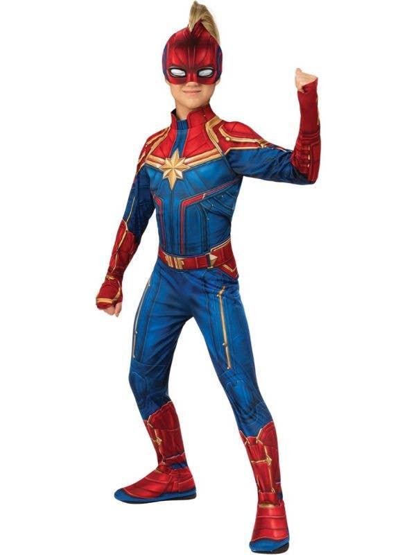 Captain Marvel Carol Danvers Girls Superhero Costume Alt Image