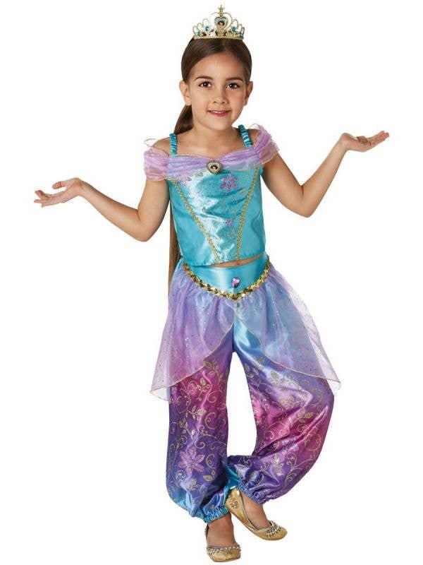 Kids Girls Princess Jasmine Aladdin Book Week Costume - Front Image