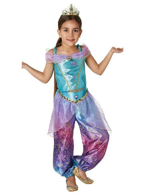 Girls Disney Shimmer Mulan Fairy Tale Princess Fancy Dress Costume