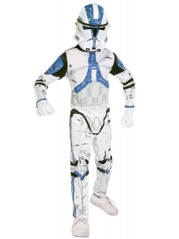 Boys 501st Clone Trooper Star Wars Fancy Dress Costume - Main Image