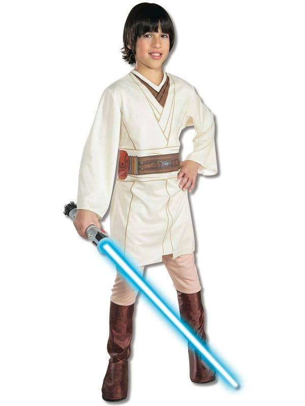 Obi Wan Kenobi Boys Star Wars Fancy Dress Costume Main Image