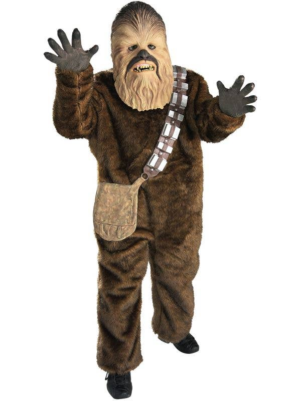 Boy's Chewbacca Deluxe Star Wars Wookie Costume Front