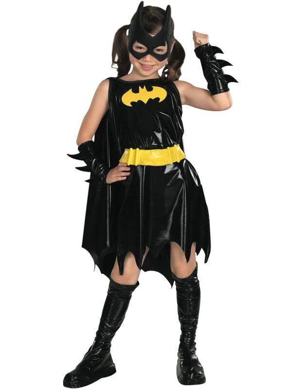 Girls' Superhero Batgirl Costume Front View
