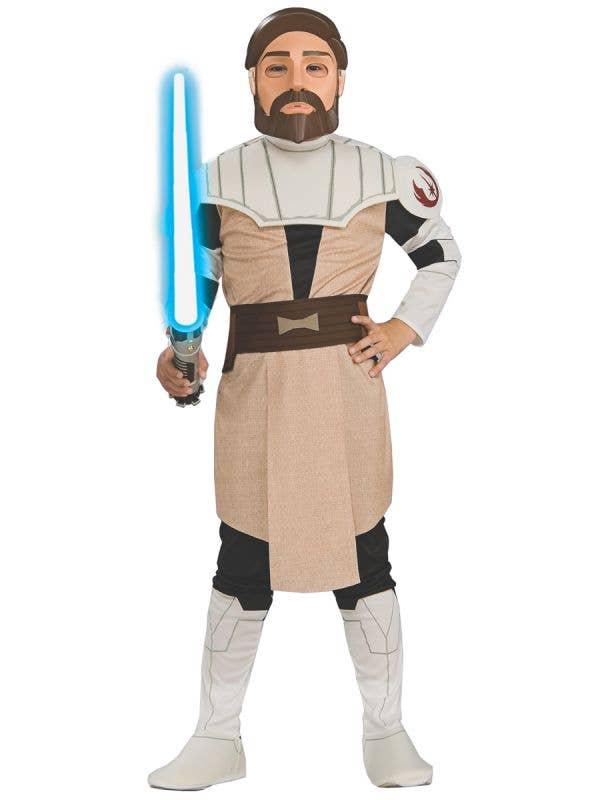 The Clone Wars Obi Wan Kenobi Boy's Star Wars Costume - Main Image