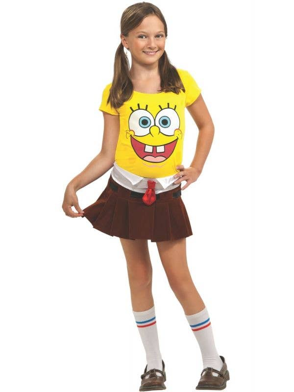 Girls Spongebob Squarepants Fancy Dress Costume Front Image