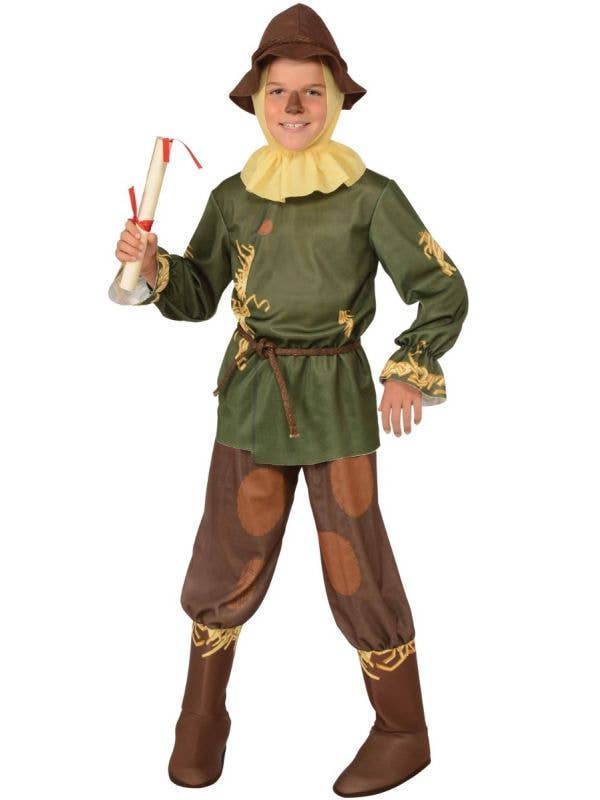 Scarecrow Boy's Wizard of Oz Costume Front View