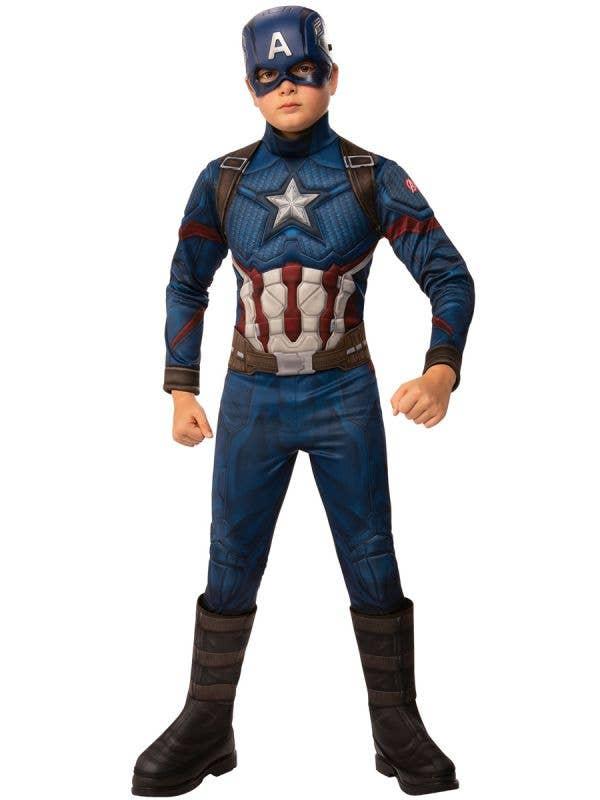 Deluxe Avengers Endgame Captain America Boy's Superhero Costume