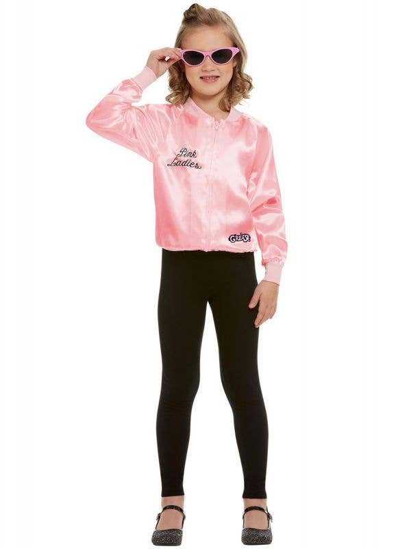 Girl's Pink Ladies Grease Costume Jacket Front View
