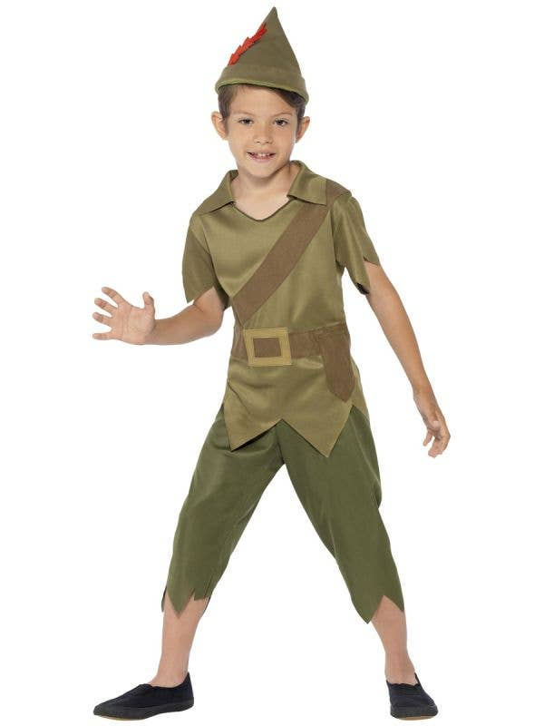 Peter Pan Boy's Book Week Character Costume Front View