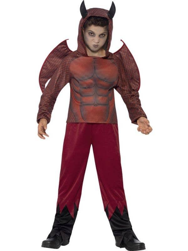 Boy's Satan Devil Fancy Dress Costume Front View