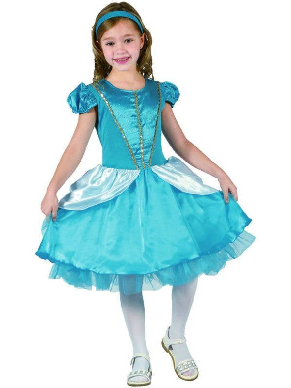 Blue Cinderella Girl's Fairytale Princess Costume