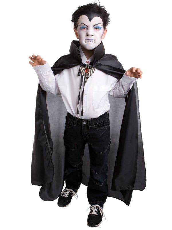 Kids Black Vampire Costume Cape Dress Up Accessory