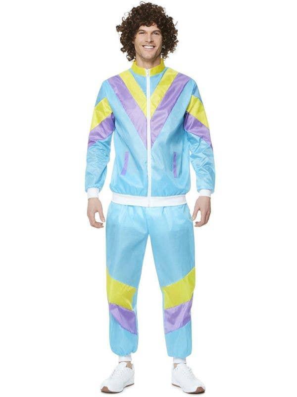 Light Blue 80's Shell Suit Costume For Men - Main Image